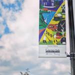 Lakeview Park's 100th anniversary banner in Oshawa by Yasaman Mehrsa