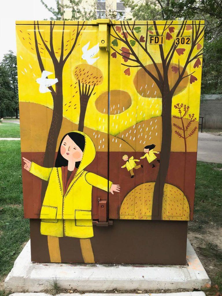 Bell Box Mural project by Melika Saeeda